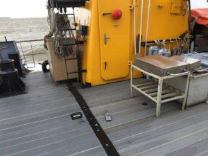 Vibrationsmessung auf einem Schiff