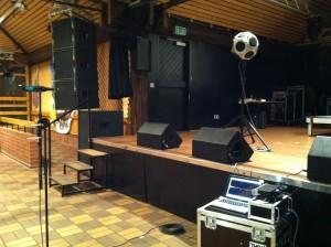 Raumakustische Messung in einer Veranstaltungshalle